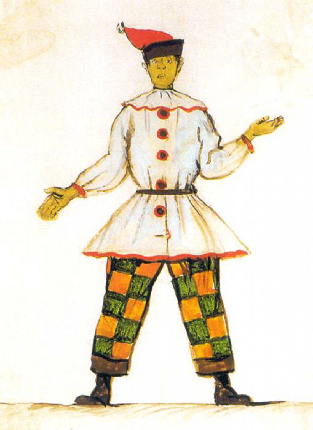 Высоко оцениваются критиками декорации, сделанные Бенуа к балету Стравинского «Петрушка» в 1911 году.