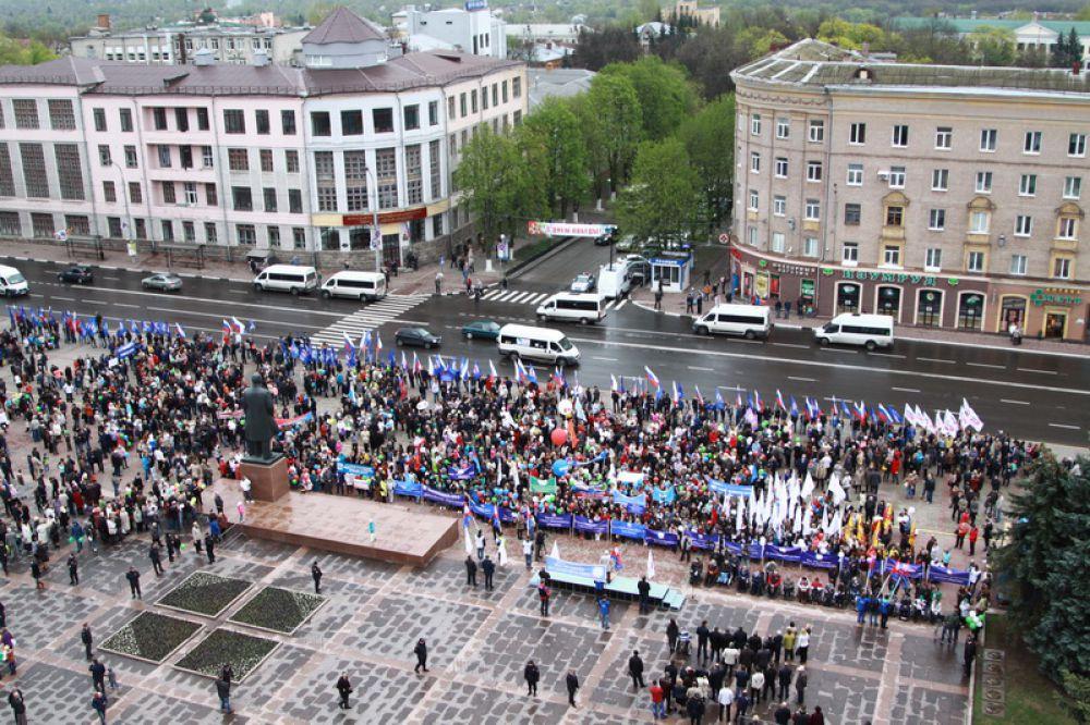 В пятницу, 1 мая, в центре Брянска состоялся митинг профсоюзов.