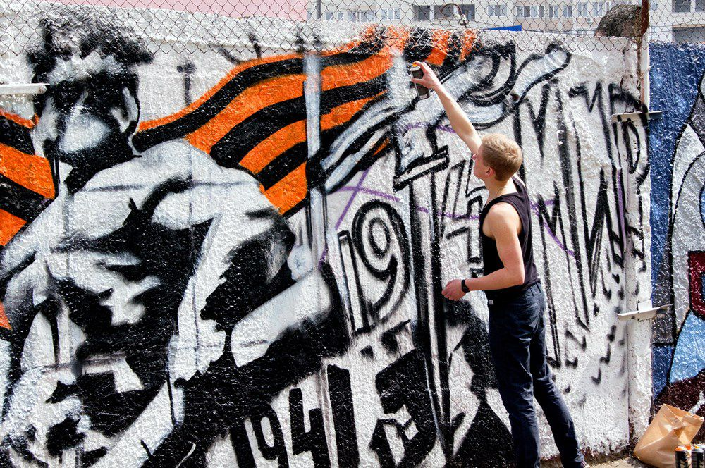 В субботу же завершился фестиваль граффити.