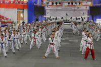 Репетиция открытия ЧМ по тхэквондо в Челябинске.