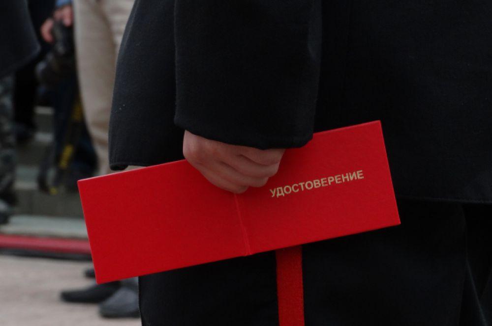 С удостоверениями учащиеся стали настоящими кадетами.