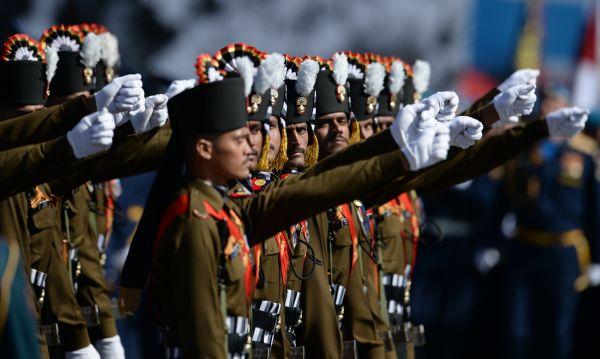 Военнослужащие гренадерского полка Вооруженных сил Индии.
