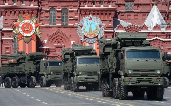 Самоходный ЗРПК наземного базирования «Панцирь-С».