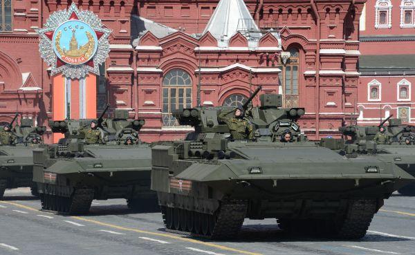 Боевая машина пехоты (БМП) на гусеничной платформе «Армата».