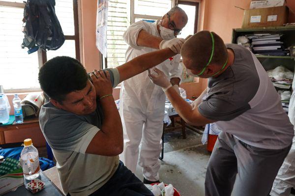 Медицинская помощь была оказана 79 гражданам, в том числе 21 россиянину, 3 гражданам Украины и 55 непальцам.