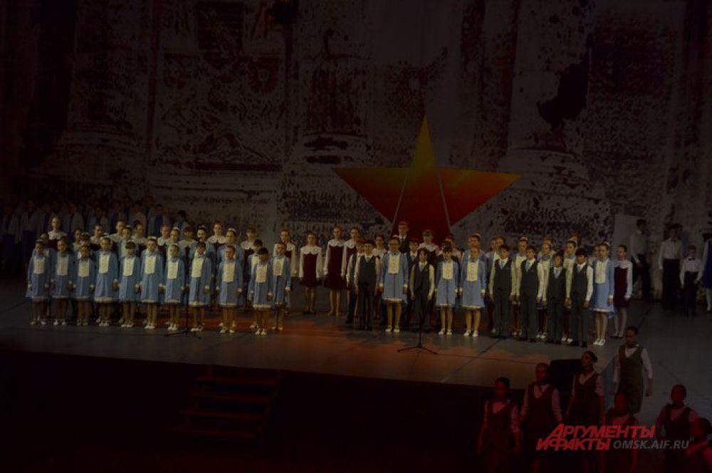 Омичи увидели праздничную программу в честь Дня Победы.