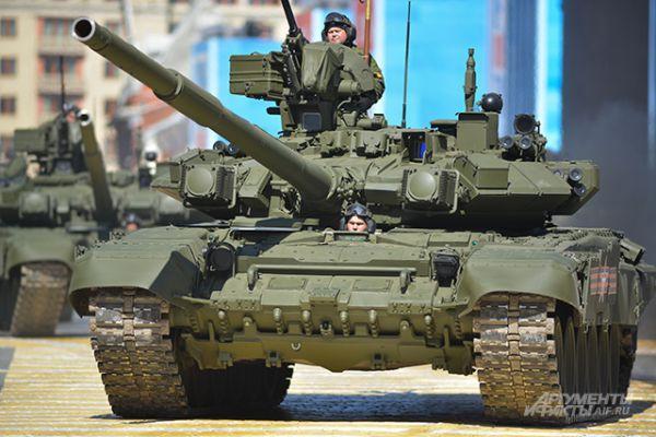 Основные боевые танки Т-90А.