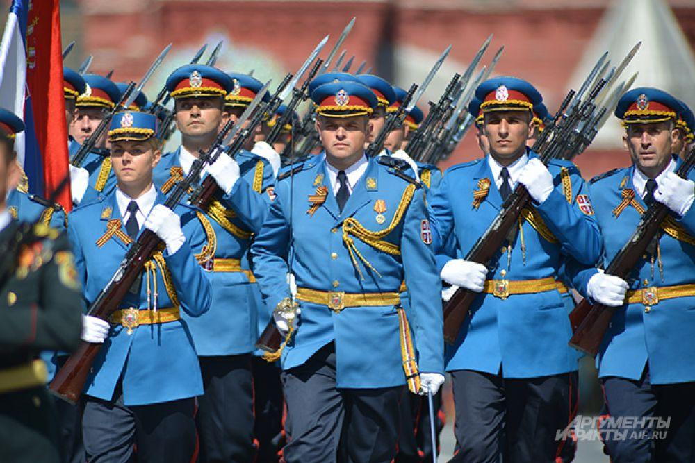 Военнослужащие Вооруженных сил Сербии.