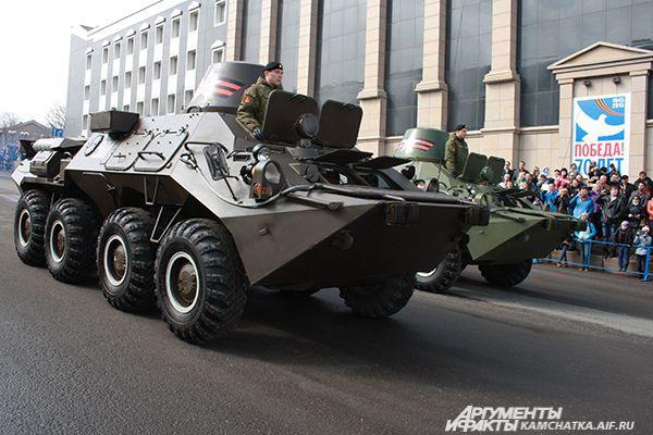 Военная техника, стоящая на вооружении береговых войск группировки Войск и Сил на Северо-Востоке России.