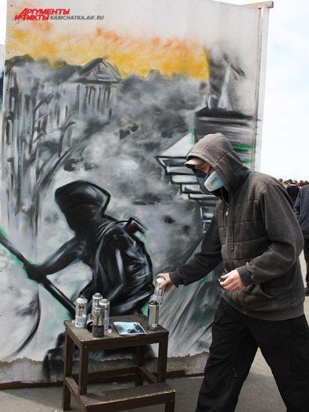 Граффити на военную тематику.