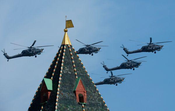 Ударные вертолеты Ми-28H «Ночной охотник».