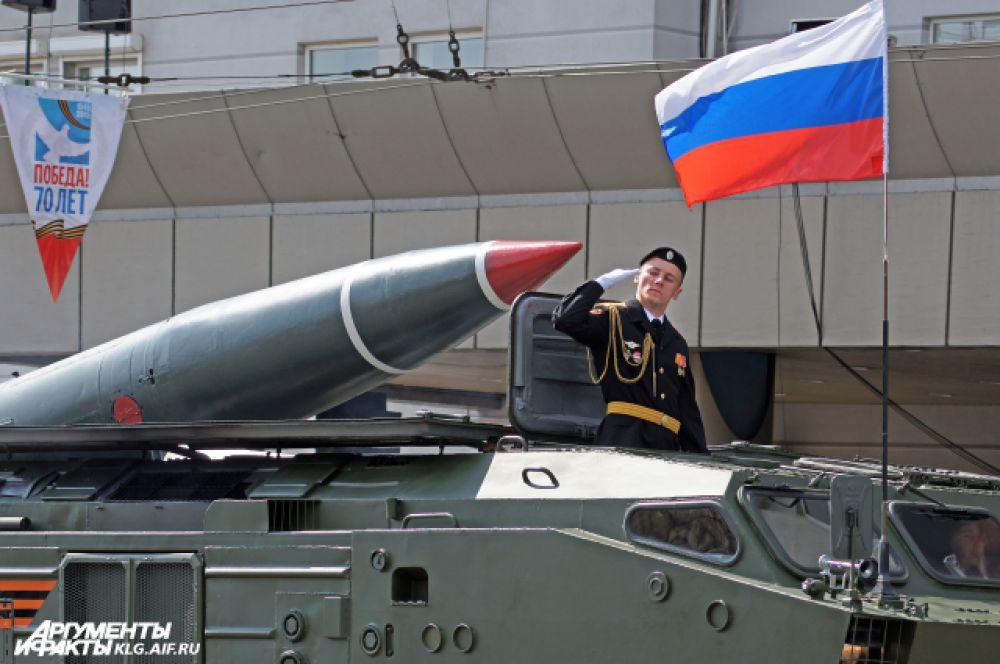 Калининградцы увидели самоходные артиллерийские установки «Гвоздика», зенитно-ракетные комплексы «С-400», ракетные комплексы «Точка-М», береговые противокорабельные комплексы «Редут», реактивные системы залпового огня «Град».
