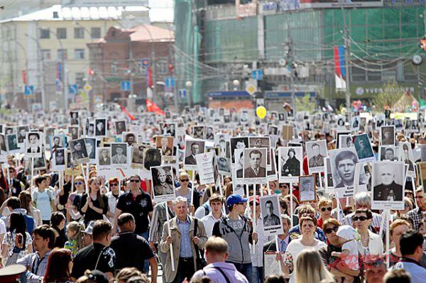 День Победы в Новосибирске.