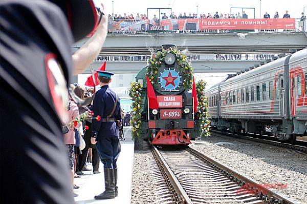 За 2 дня до Победы в Новосибирск прибыл ретропоезд «Эшелон Победы».