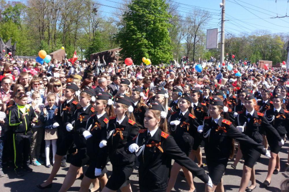 Девушки-кадеты впервые приняли участие в Параде
