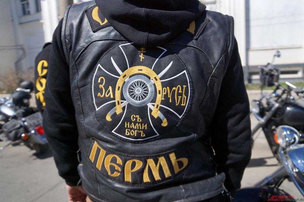Представитель байкерской группировки «Сотня».