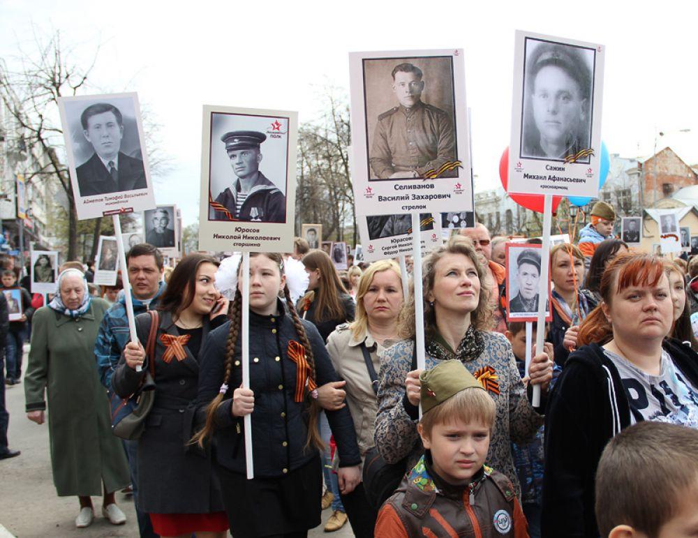 Шествие Бесмертного полка по своим масштабам превзошло даже парад на площади Ленина