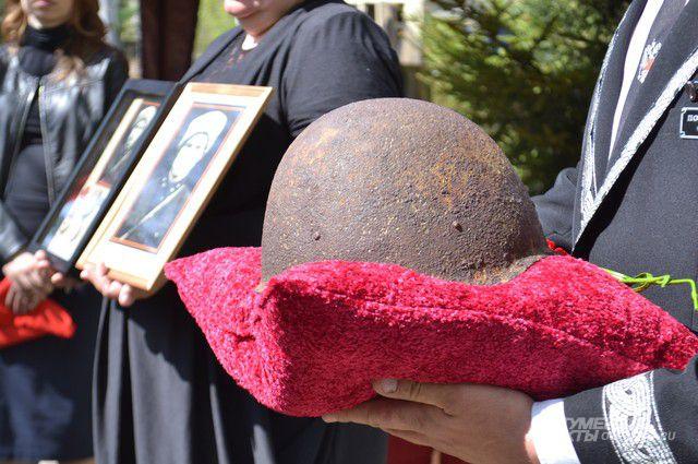 Останки погибшего красноармейца упокоились на родной земле.