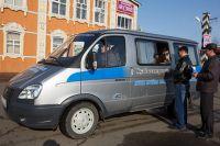 Мобильная касса «Кузбассэнергосбыта» в Мариинске.