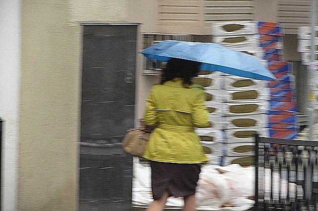 Неделя была дождливой.