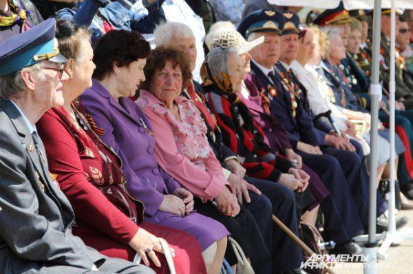 По словам ветеранов, все действо соответствовало параду!