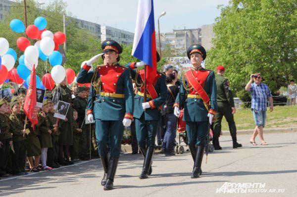 Учащиеся Второго Донского имени Императора Николая 2 кадетского корпуса.