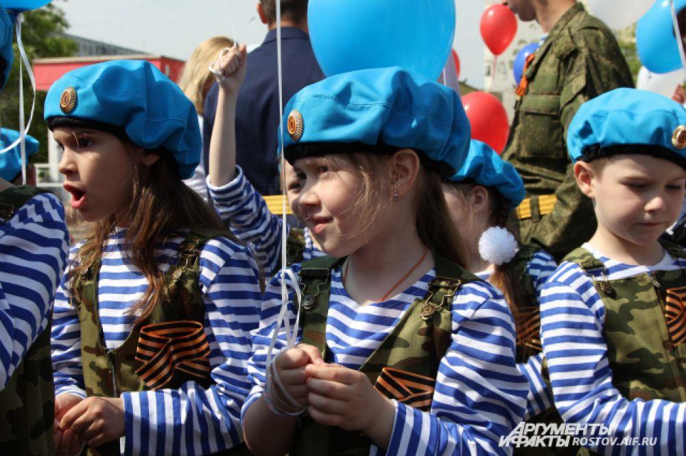 Дети представляли практически все роды войск РФ.
