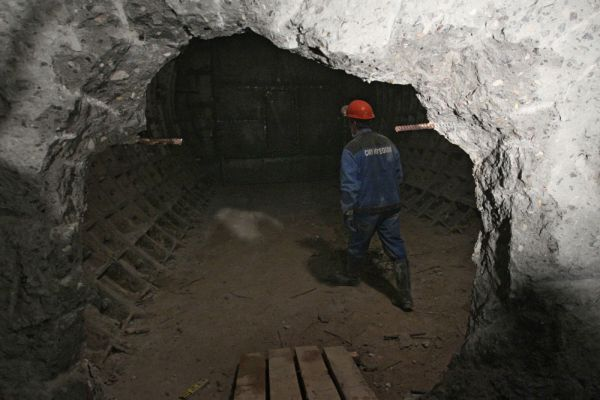 Строительство участка по сбойке тоннелей Калининско-Солнцевской и Арбатско-Покровской линий метро в Москве. 2013 год.
