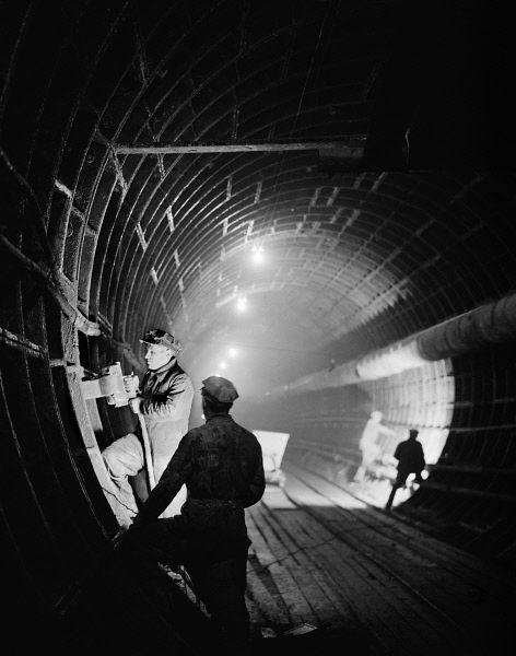 Строительство метро Арбатско-Покровской линии. 1944 год.