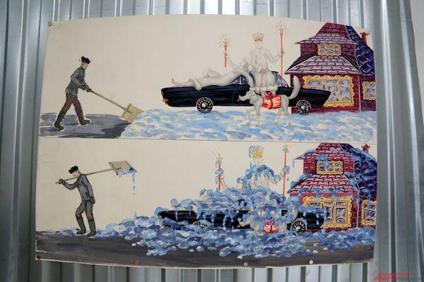 К слову, все представленные работы у дворника-художника были выкуплены. Однако о стоимость картин Андрей Агишев называть отказался.