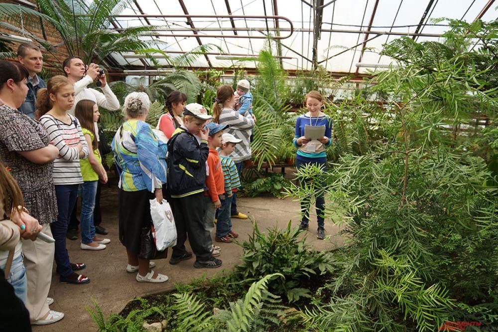Ботанический сад - традиционно любимое место у посетителей вуза.