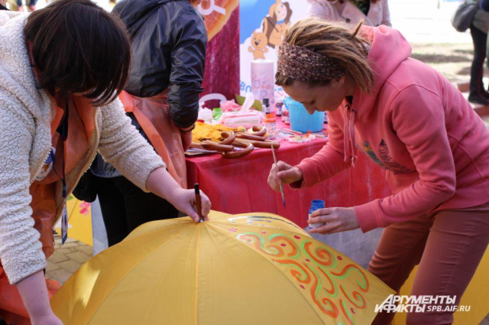 Посетители праздника творчески подошли к заданиям.