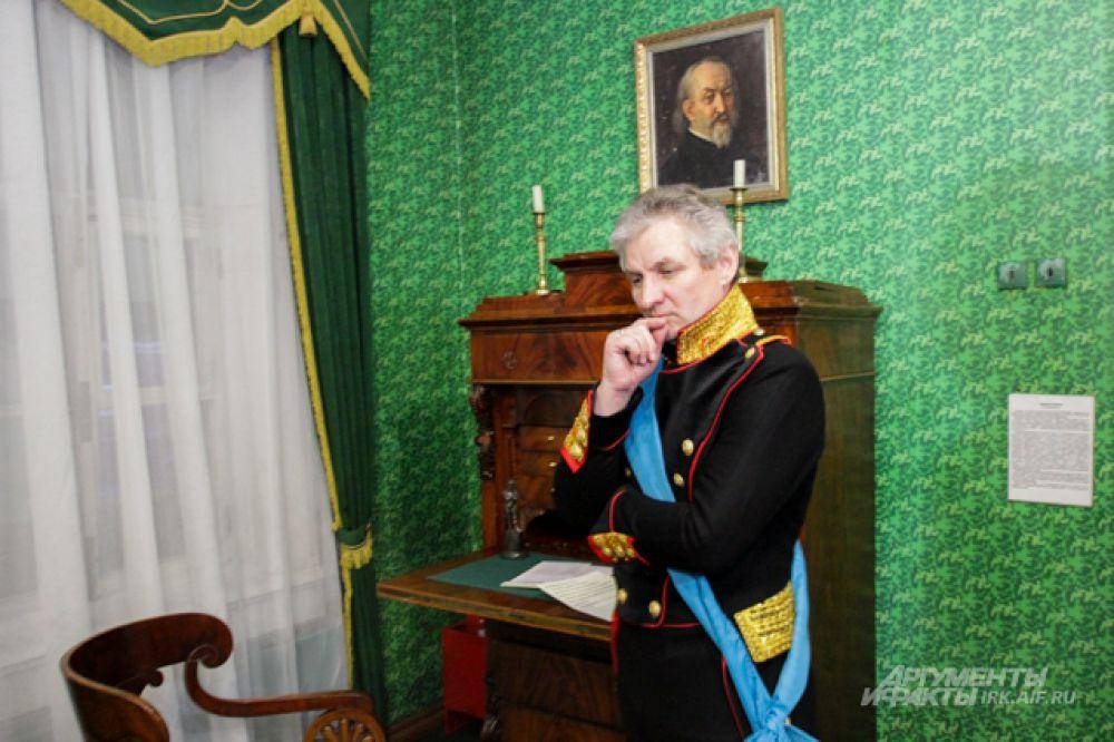 Главными героями съемочного дня стали князья Волконский и Трубецкой.