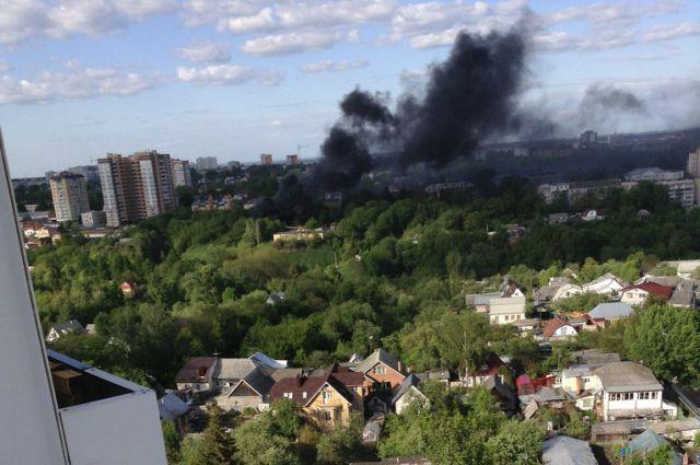Пожар на свалке в Брянске. 17 мая.