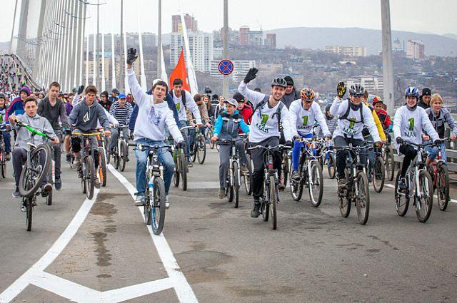 Велопробег по Золотому мосту.