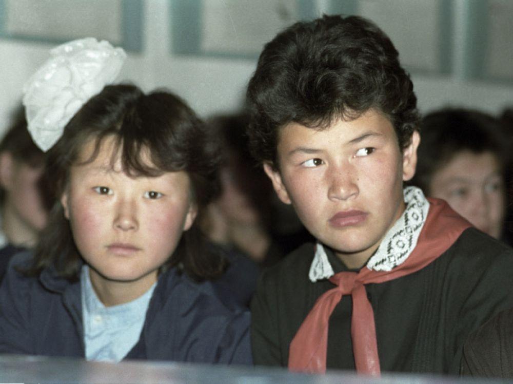 Жители деревни Куюс. 1990 год.