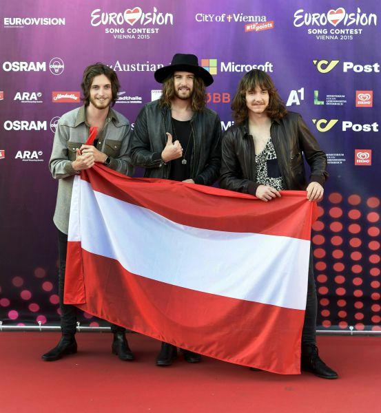 Члены австрийской группы «Makemakes» Маркус Христос, Доминик «Додо» Махрер и Флориан Мейндл.