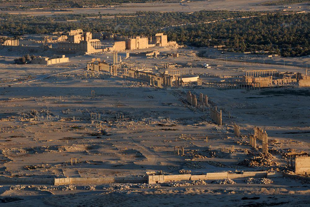 Пальмира — один из богатейших городов поздней античности, расположенный в одном из оазисов Сирийской пустыни, между Дамаском и Евфратом, в 240 км к северо-востоку от первого и в 140 км от второго.