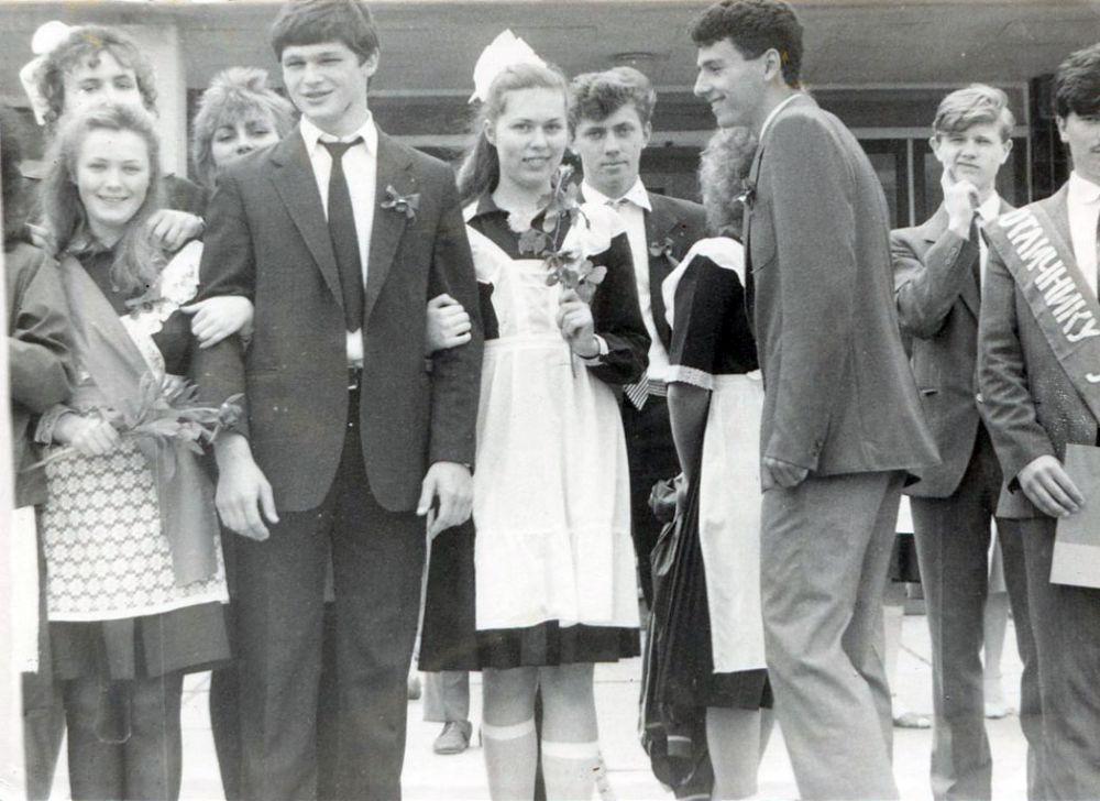 Выпускники симферопольской школы. 1988 г.