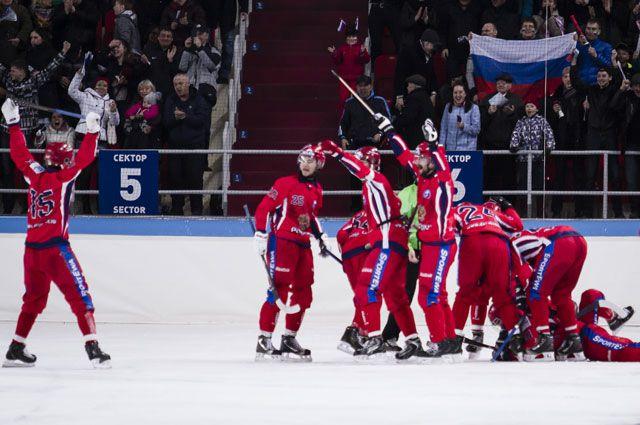 Сборная России по хоккею с мячом.