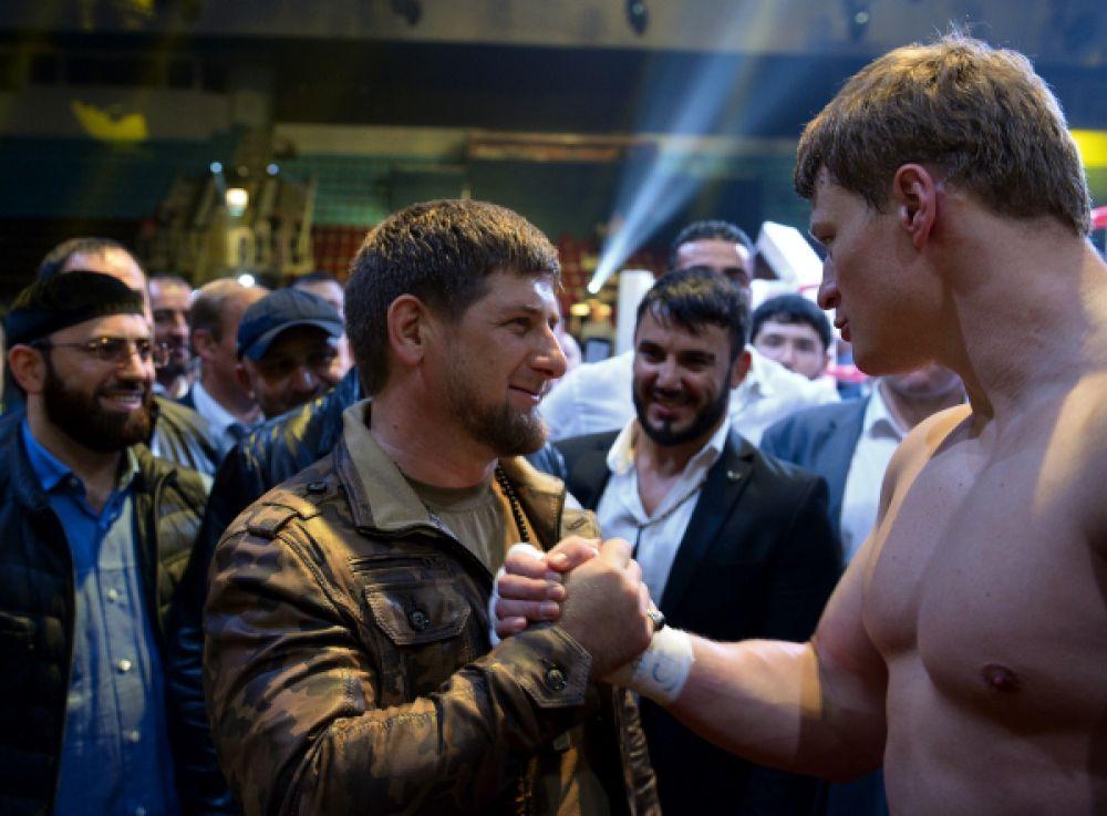 После боя одним из первых Поветкина с победой поздравил президент Чеченской Республики Рамзан Кадыров