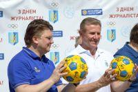 Президент НОК Украина Сергей Бубка и министр молодежи и спорта Игорь Жданов