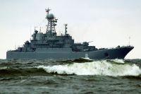 БДК «Королёв» в море.