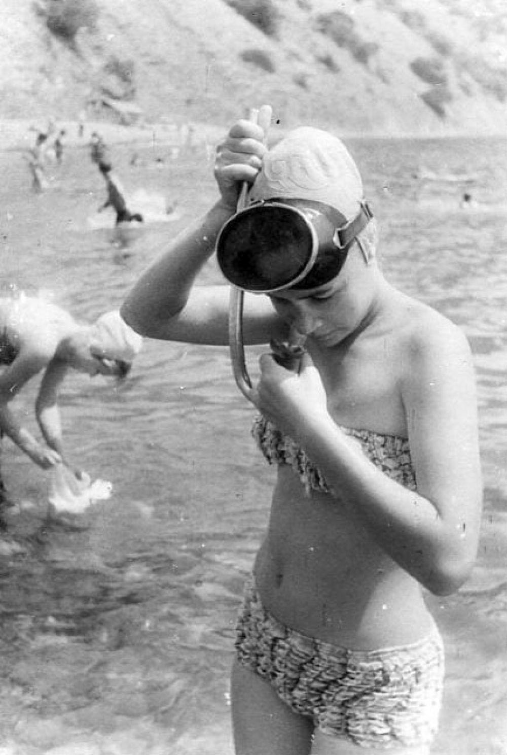 У Карадага. 1962 год.