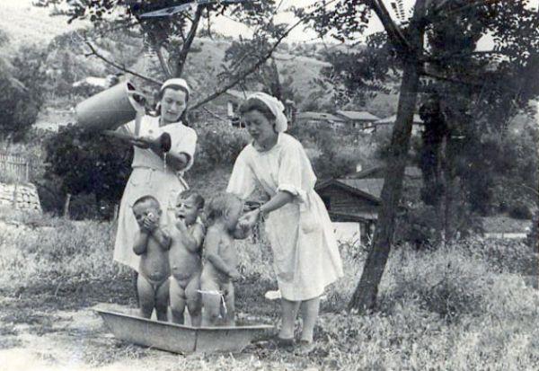 Детские ясли. Алушта. 1940 год.
