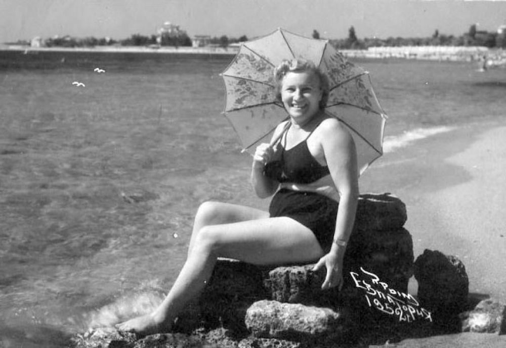 Пляж. 1952 год.