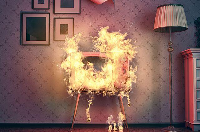 пожар в квартире картинки
