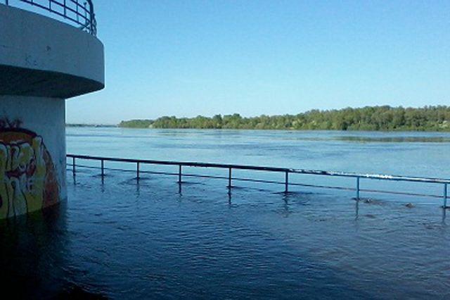 Высший уровень воды в реке наблюдался 24 мая.