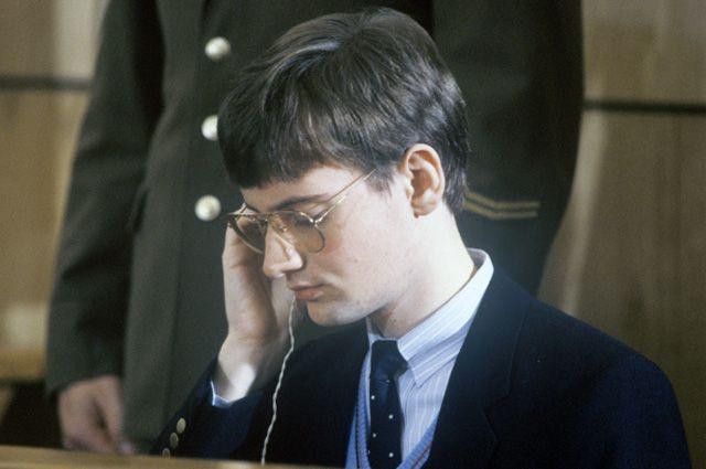 19-летний немецкий спортсмен-пилот (ФРГ) Матиас Руст во время суда 2 сентября 1987 года.