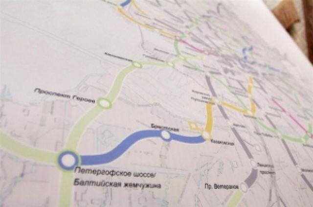 схему метро Петербурга